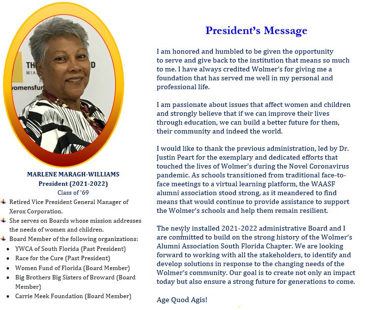 Mrs. Marlene Williams - President