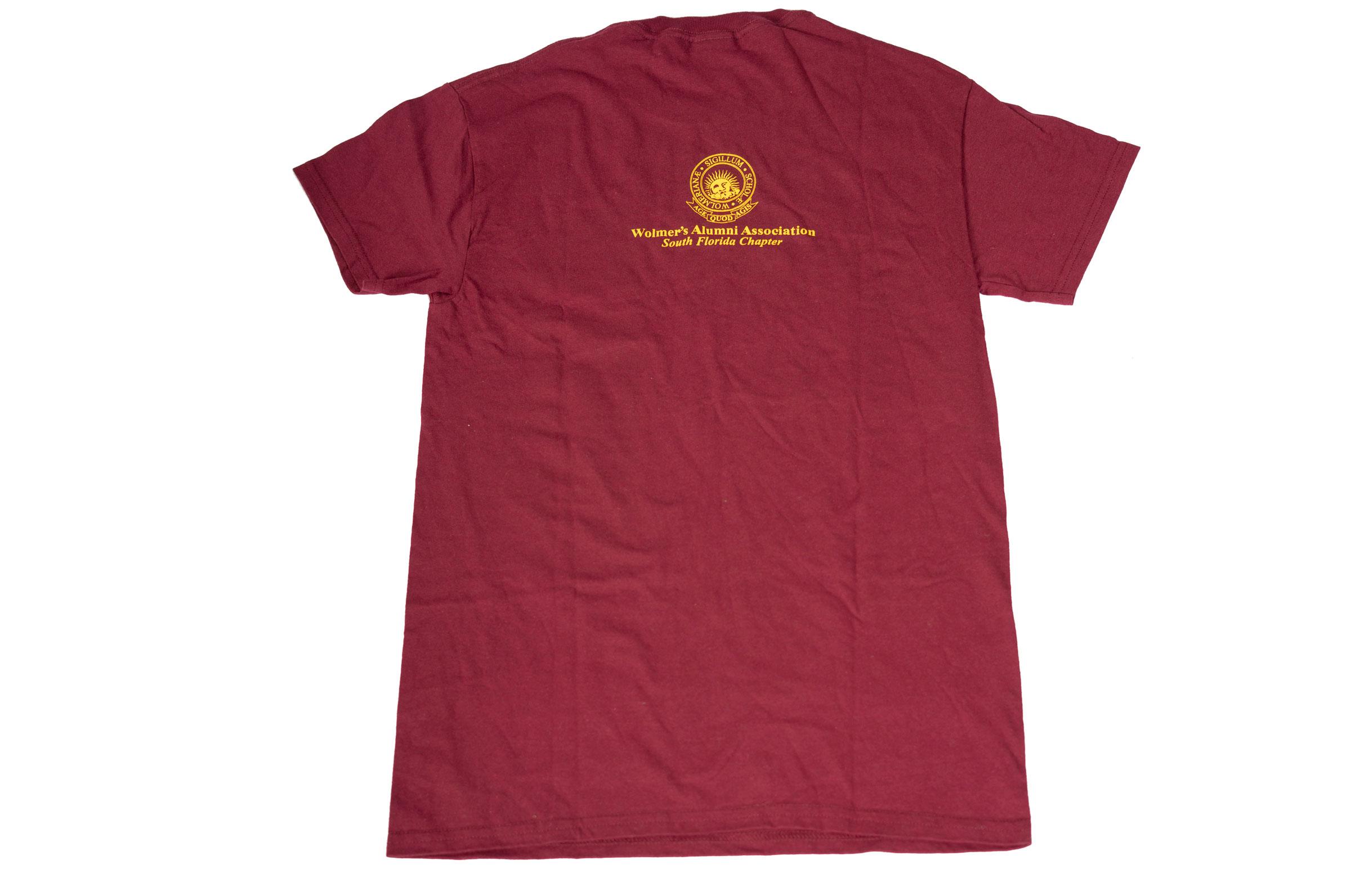 Wolmer's Cotton Tee Shirt Maroon
